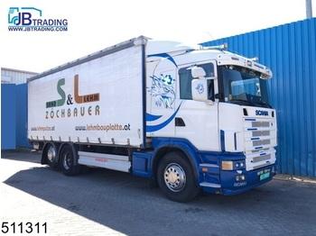 Scania 124 420 6x2, Manual, Retarder, Airco, Analoge tachograaf - ciężarówka plandeka