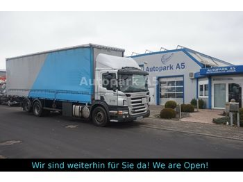 Ciężarówka plandeka Scania P270 Klima Tempomat Ladebordwand Liftachse