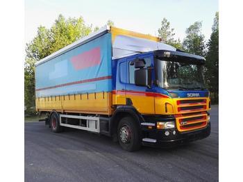 Ciężarówka plandeka Scania P270 alulava liukukapeli+pl nostin