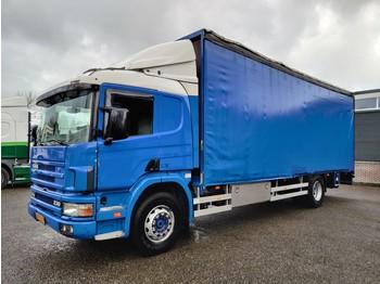 Ciężarówka plandeka Scania P94-230 Sleepcab 4X2 Euro3 - Opticruise 3 pedals - Dhollandia Lift 2500KG - Aluflex