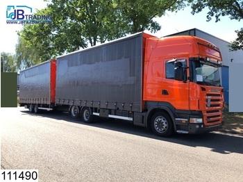 Scania R 380 6x2, Retarder, Airco, 3 Pedals, Combi, Jumbo, Mega, Through-loading system - ciężarówka plandeka