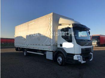 Ciężarówka plandeka Volvo FL 240 AHK PALFINGER 1500KG SCHECKHEFT