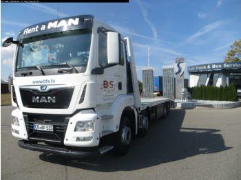 Ciężarówka platforma MAN TGS 35.420 8x2-6 BL Plateau, Junghanns RAMPENFAH
