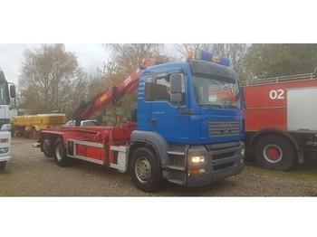 Ciężarówka MAN TGA 350 Tipper Crane HMF 2220K4 Remote