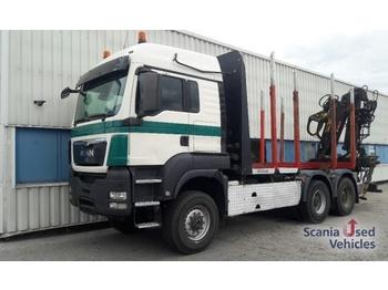 MAN TGS 33.480 6x6 BB Holzfahrzeug/ LOGLIFT Kran - ciężarówka