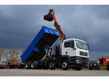 Wywrotka MAN 32.360 TGA 8x4 -crane+ tipper: zdjęcie 1