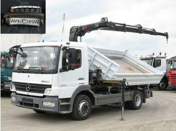 Mercedes-Benz Atego 1224 K 2-Achs Kipper Kran Funk+Greiferst.  - wywrotka