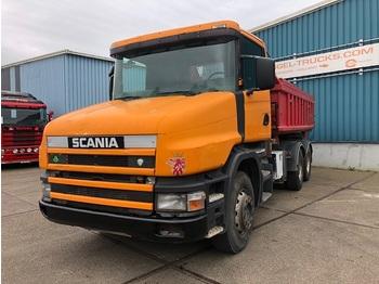 Scania T124-360 6x4 FULL STEEL KIPPER (REDUCTION AXLES / 12 GEARS MANUAL GEARBOX / RETARDER / FULL STEEL SUSPENSION) - wywrotka