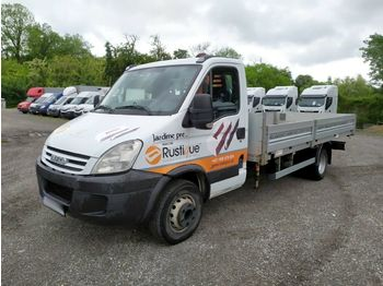 Open body delivery van Iveco Daily 65C18 pritsche 5m /kran FASSI/ nutz.3,6t