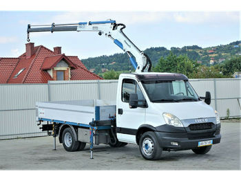 Open body delivery van Iveco Daily 70C21 Pritsche 3,50m + Kran * Topzustand!