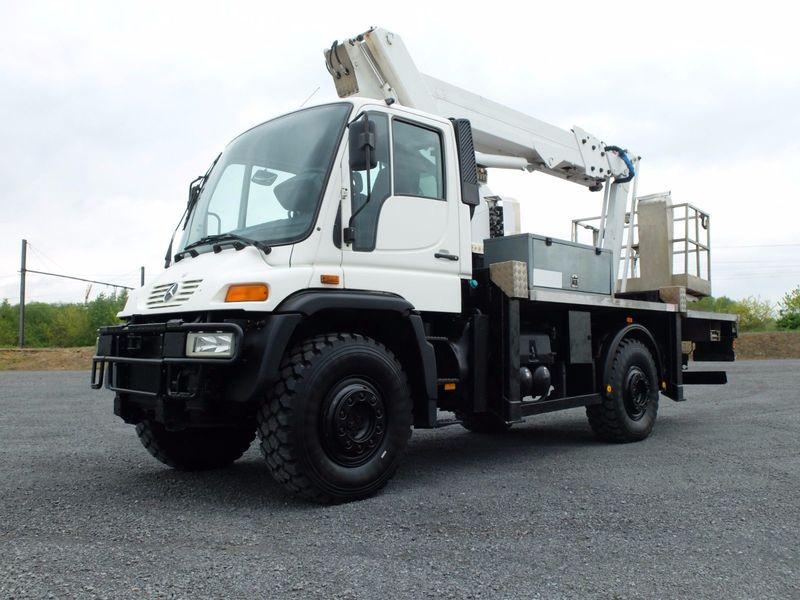 Aerial platform Mercedes-Benz UNIMOG-U500/39 ELEVATOR 22 M - Truck1 ID:  2660525