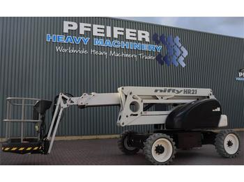 Articulated boom Niftylift HR21DE 2WD Bi Energy, 20.8 m Working Height, 13m R
