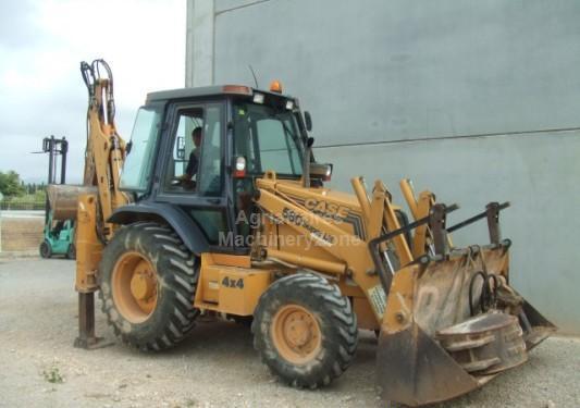 Backhoe loader Case 580 SLE TURBO HAMMER - Truck1 ID: 900506