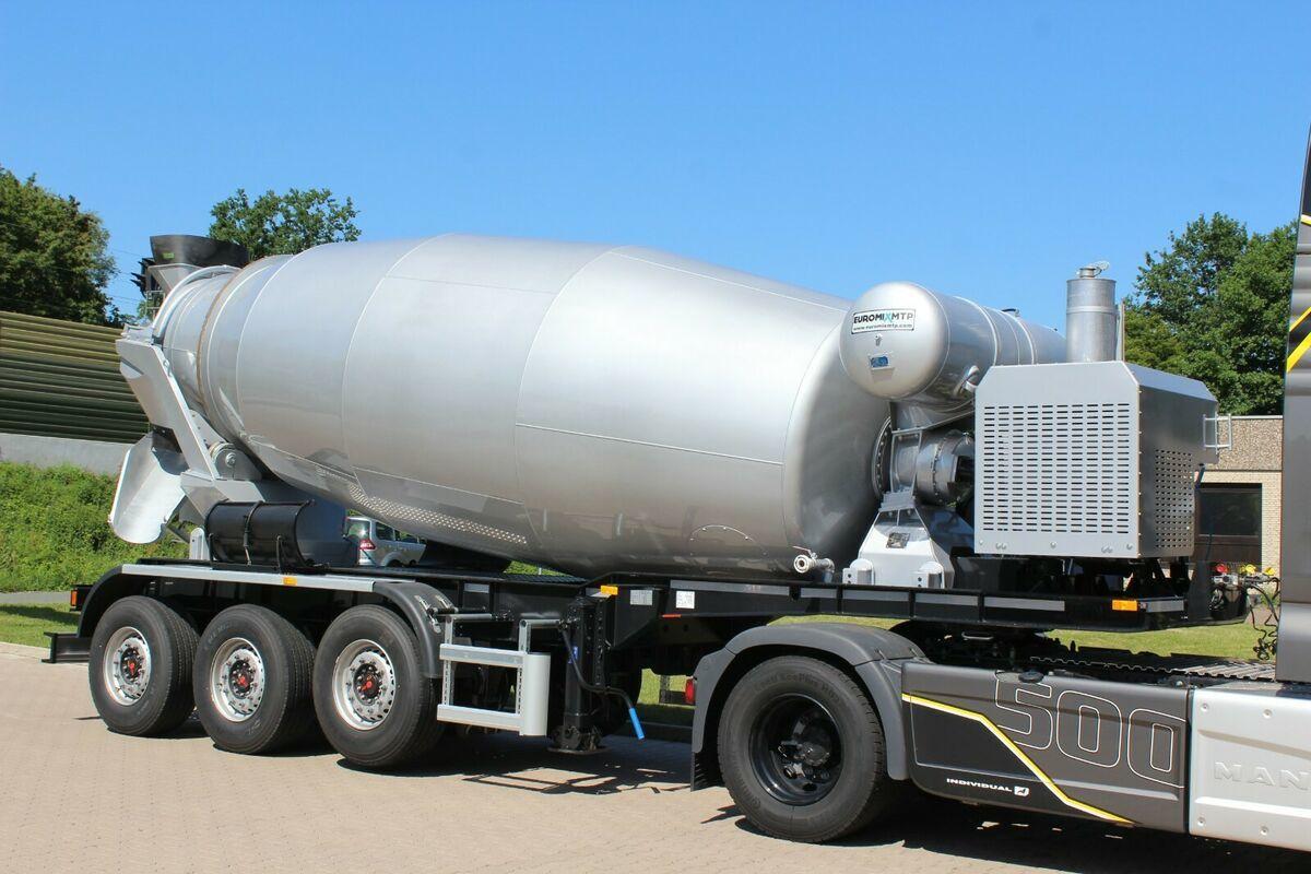 concrete mixer EUROMIX MTP 12m³ Betonmsicher Auflieger