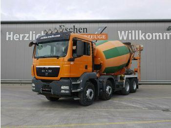 Concrete mixer MAN TGS 32.360 BB, 8x4, 9 m³ Stetter, Klima