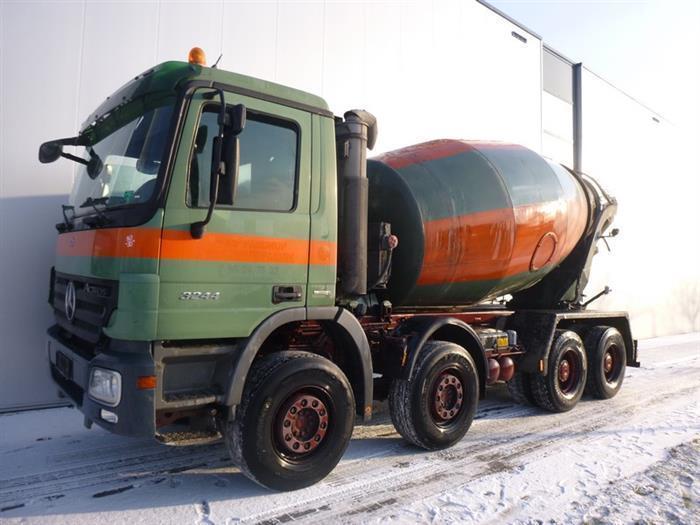 Concrete mixer Mercedes-Benz ACTROS 3244 8X4 EPS STETTER 9M3 EURO 4 -  Truck1 ID: 2891181