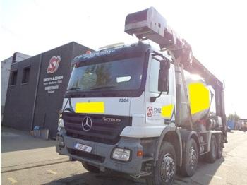 Concrete mixer Mercedes-Benz Actros 3236 8m2 +belt/transportband