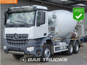 Concrete mixer Mercedes-Benz Arocs 3342 6X4 9m3 Big-Axle Steelsuspension Euro 6: picture 1
