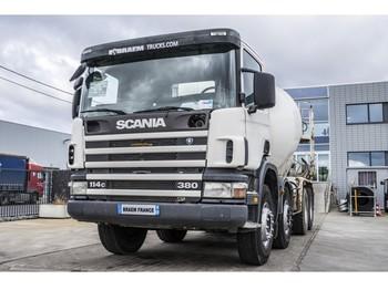 Concrete mixer Scania 114C380 + BETONMIXER 9M³