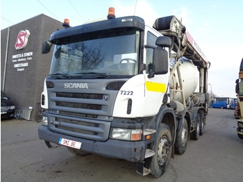 Concrete mixer Scania P 380 +transportband