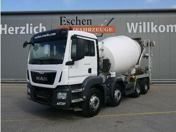 Concrete mixer truck MAN TGS 32.360 8x4 BB*9 m³ Stetter*EUR6*Kamera*Klima
