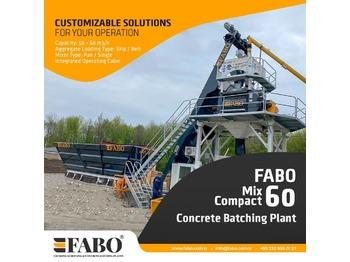 FABO FABOMIX COMPACT-60 CONCRETE  PLANT | NEW PROJECT - concrete plant