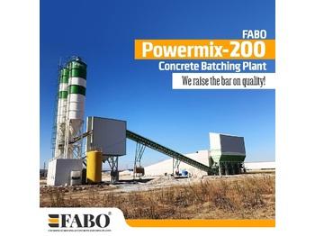 FABO POWERMIX-200 STATIONARY CONCRETE BATCHING PLANT - concrete plant