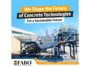 FABO TURBOMIX-60 MOBILE CONCRETE PLANT WITH PRE-FEEDING SYSTEM - concrete plant