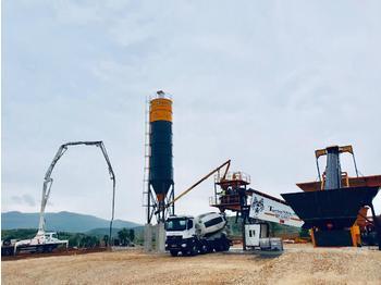 FABO TURBOMIX-90 MOBILE CONCRETE BATCHING PLANT - concrete plant