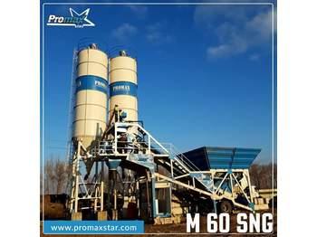 Concrete plant PROMAXSTAR Mobile Concrete Batching Plant PROMAX M60-SNG(60m³/h)