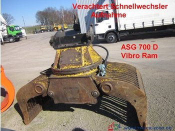 Construction equipment CAT Vibro Ram ASG 700 D Sortiergreifer Verachtert CW