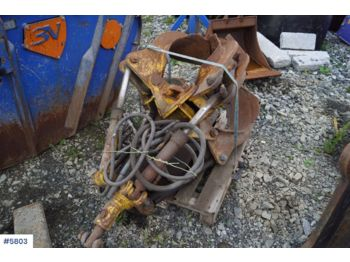 Free hanging hydraulic claw for crane - construction equipment