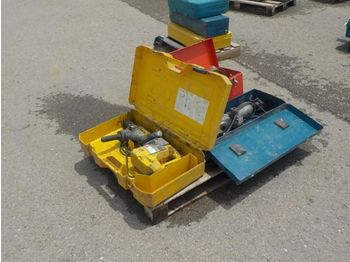Construction equipment Pallet of Assorted Electric Tools, Power Drill, Hammer, Ridgid Drain Cleaning