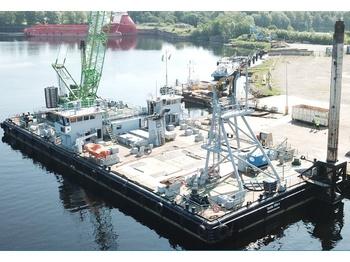 Rheinwerft Seagoing Barge & Sennebogen 7700 Crane - crawler crane