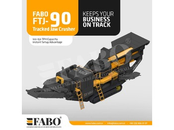 FABO Fabo FTJ-90 Tracked Jaw Crusher - crusher