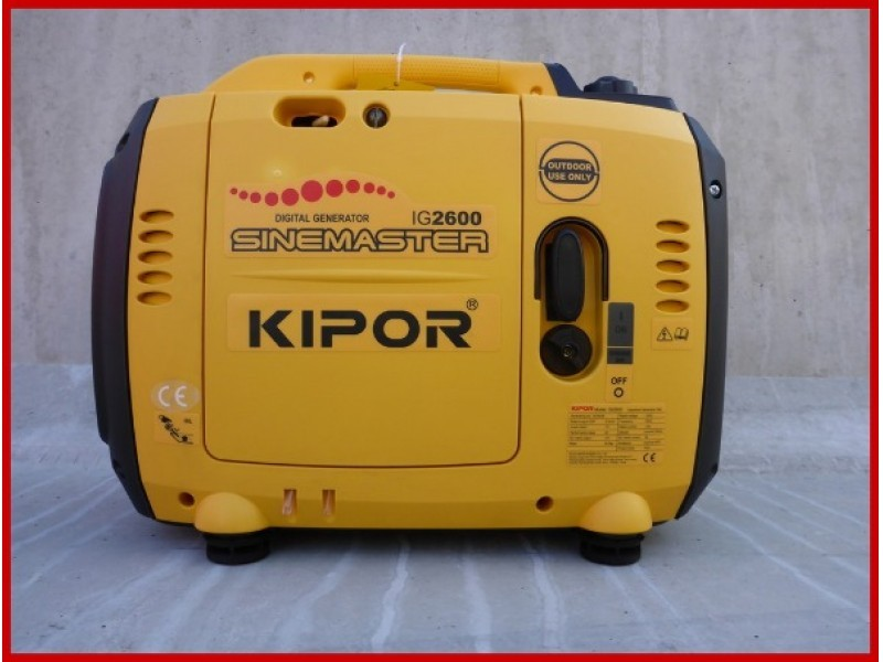 New KIPOR IG2600 - 2,65 KVA INVERTER GENERATORSET generator set for