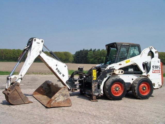 Mini excavator Bobcat S185+ ARM, LOADING AND DIGGING BUCKET - Truck1 ID:  1144051
