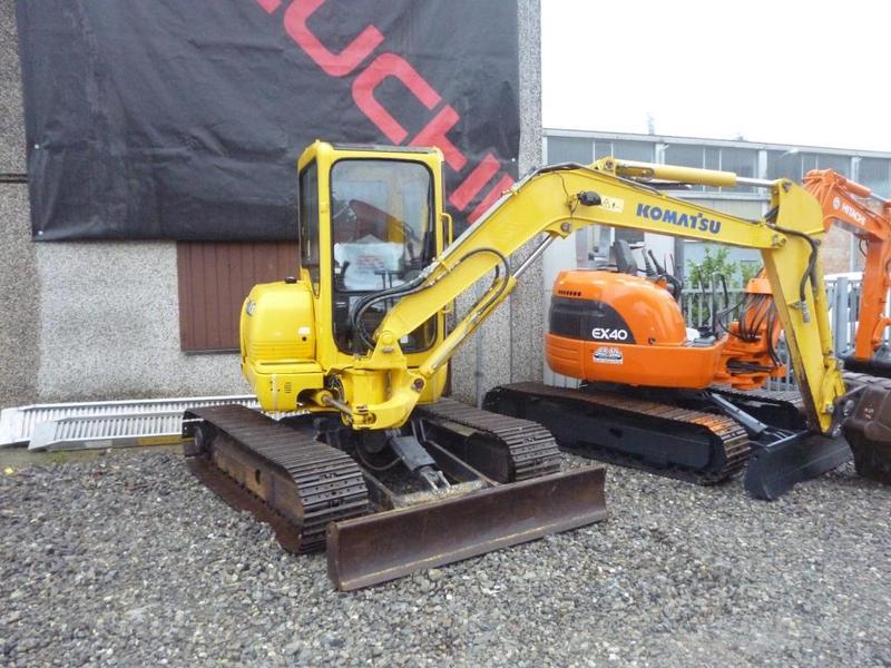 1995 komatsu pc45 mini excavator   item 4195   12-17-2009.