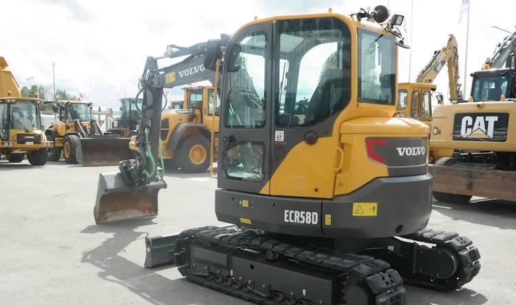 Volvo ECR58D *Uthyres* mini excavator from Sweden for sale