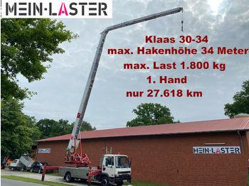 Mobile crane DAF 45.150 Klaas K 30-34 34 M 1.800kg Funk FB 1. Hd