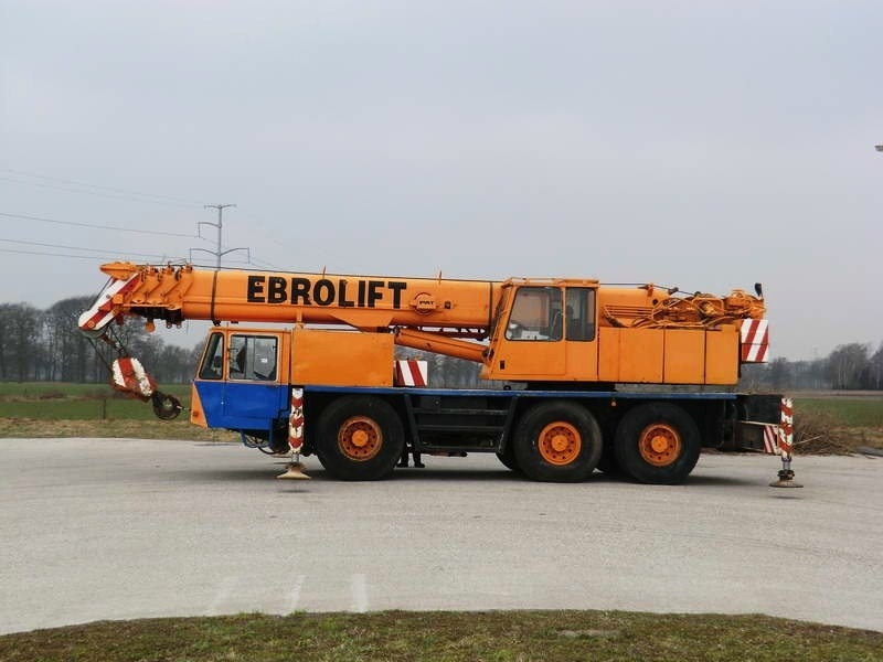 Mobile Crane Engine : Demag ac x ton twin engine mobile crane from