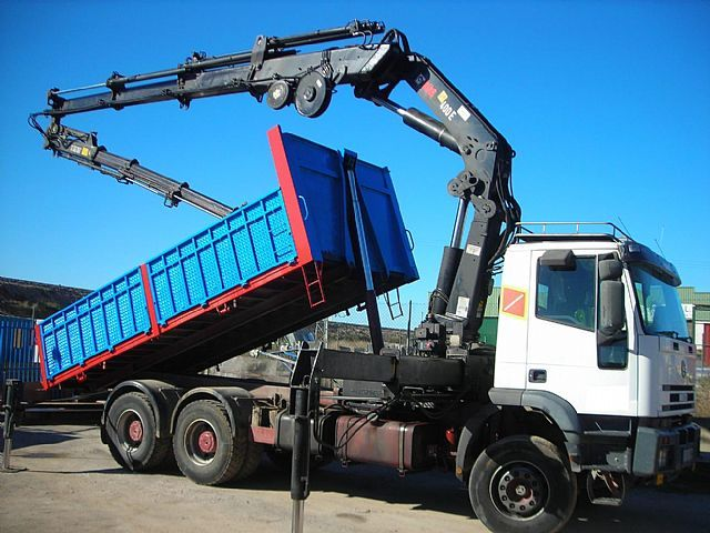 Mobile Crane Jib : Iveco mit kran hiab e jib meter mobile crane