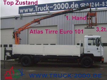 MAN 18.222 Atlas Heckkran faltbar3,2t/ 8,30m*1.Hand - mobile crane