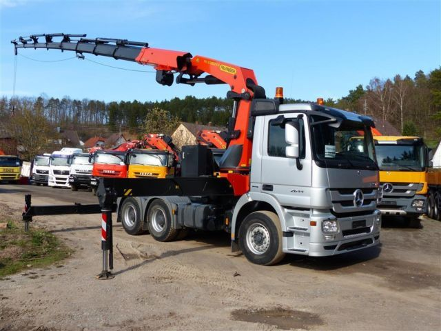 Berühmt Mercedes-Benz NEUWERTIG - PALFINGER PK 50002 - SATTELZUG mobile @YJ_67