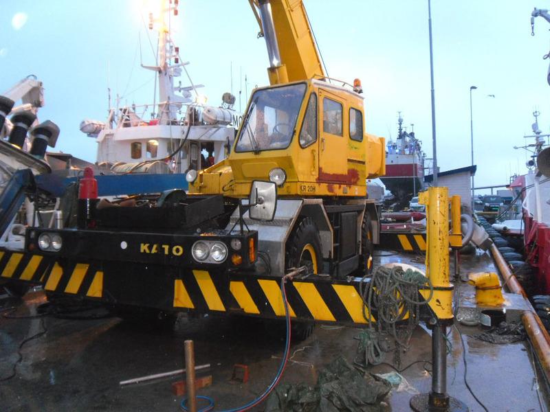 Mobile Crane Kato 20 Ton : Sold kato kr h mobile crane from norway for sale