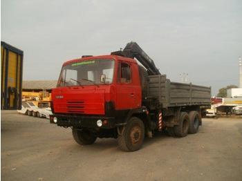 Tatra T 815 with crane HIAB after general enginerepair - mobile crane