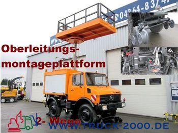 UNIMOG 424 4x4 Zweiwege Hubarbeitsbühne Strom/Oberleitg - mobile crane