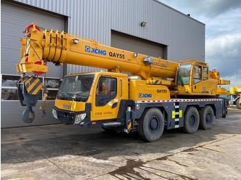 XCMG QAY55 55 Ton 6x6x6 All Terrain Crane - mobile crane