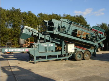 POWERSCREEN TITAN 618 16X6 SIEBANLAGE MOBILE - construction machinery