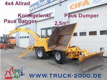 Construction machinery Paus AKD 202 4x4 Baggerlader*Dumper 3S.-Kipper*Schild